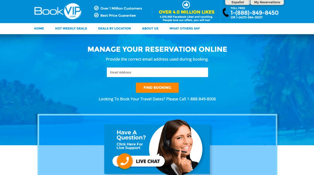 book vip homepage