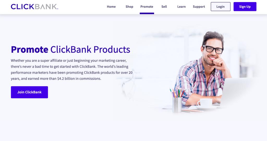 CLickBank página de afiliados