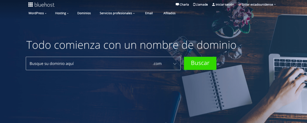 Bluehost registrar dominio
