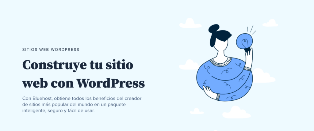 Bluehost crear sitio web con WordPress