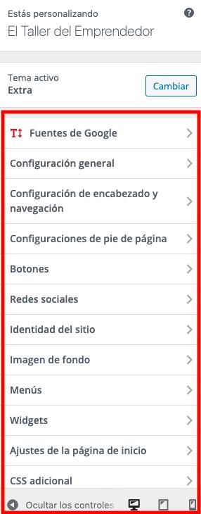 Personalizar Tema en WordPress