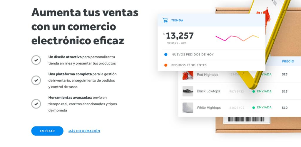 Weebly en español ventas con comercio electrónico