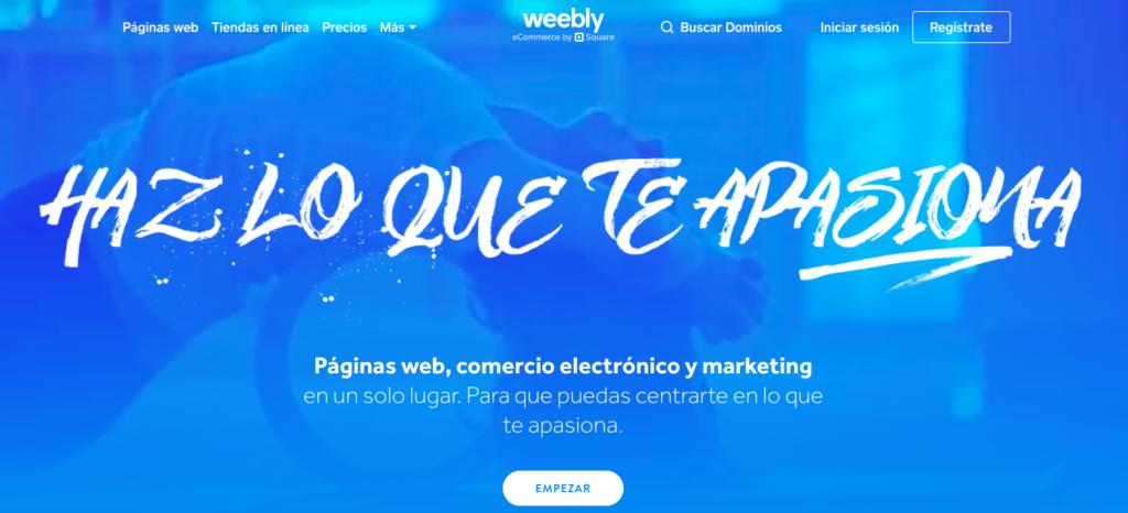 Weebly en español página principal