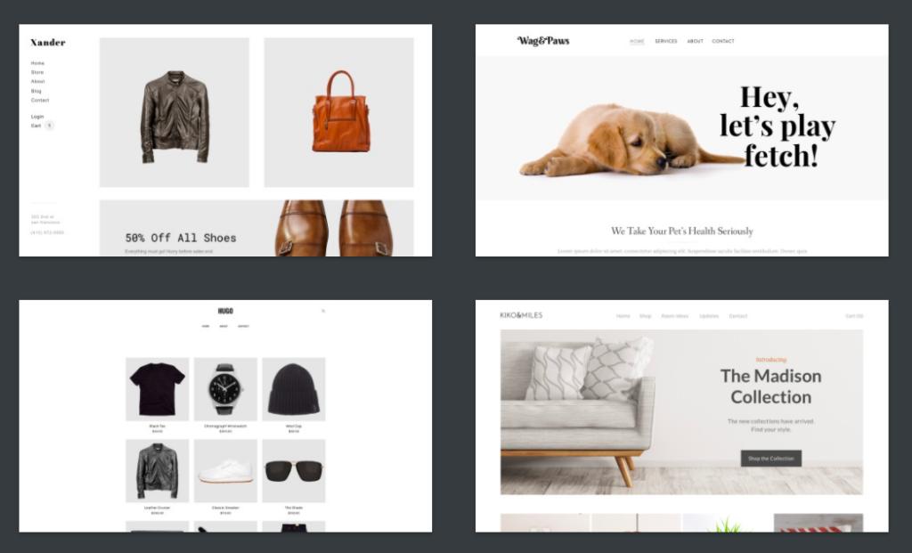 Weebly temas de tienda online