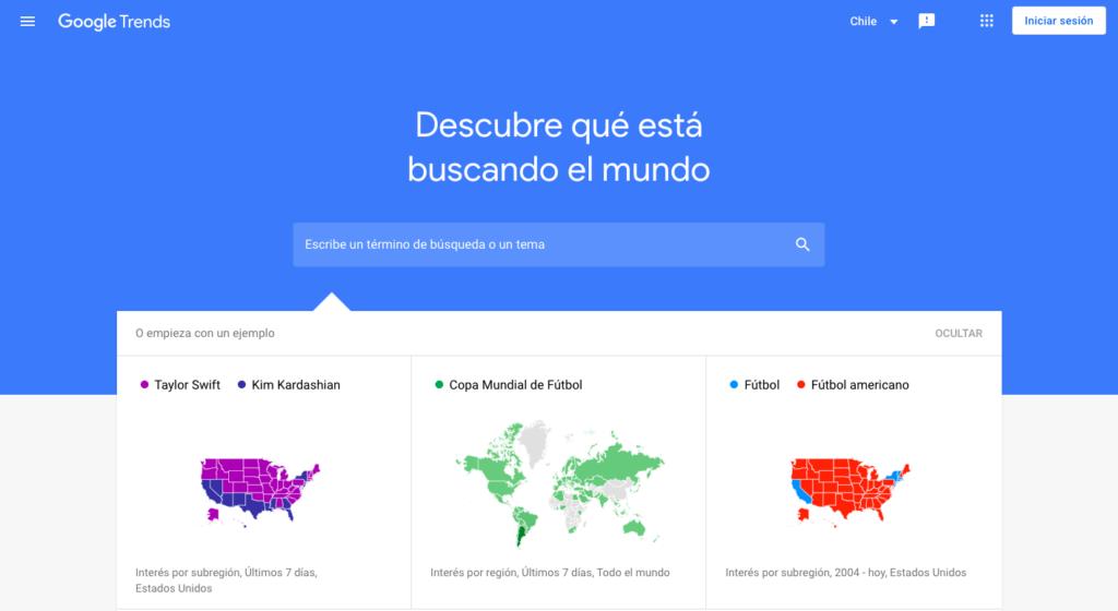 Google Trends página en español