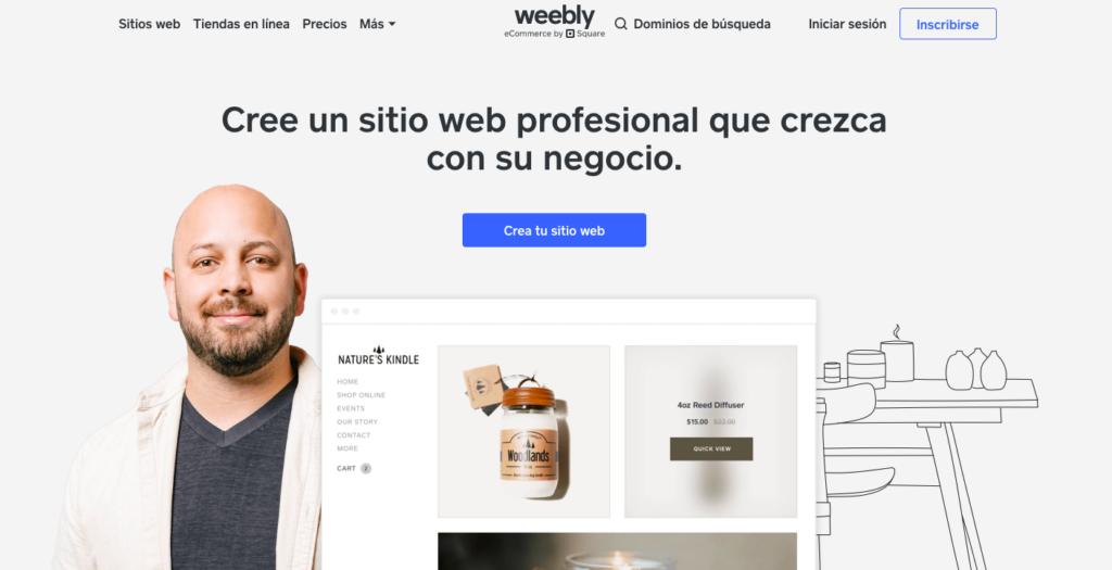 Weebly crear un sitio web gratis