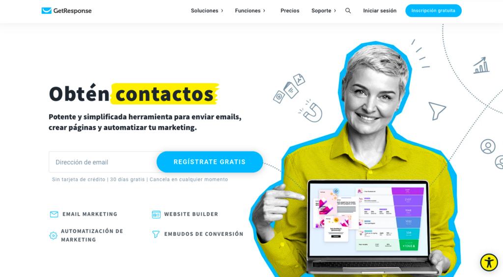 GetResponse página principal en español