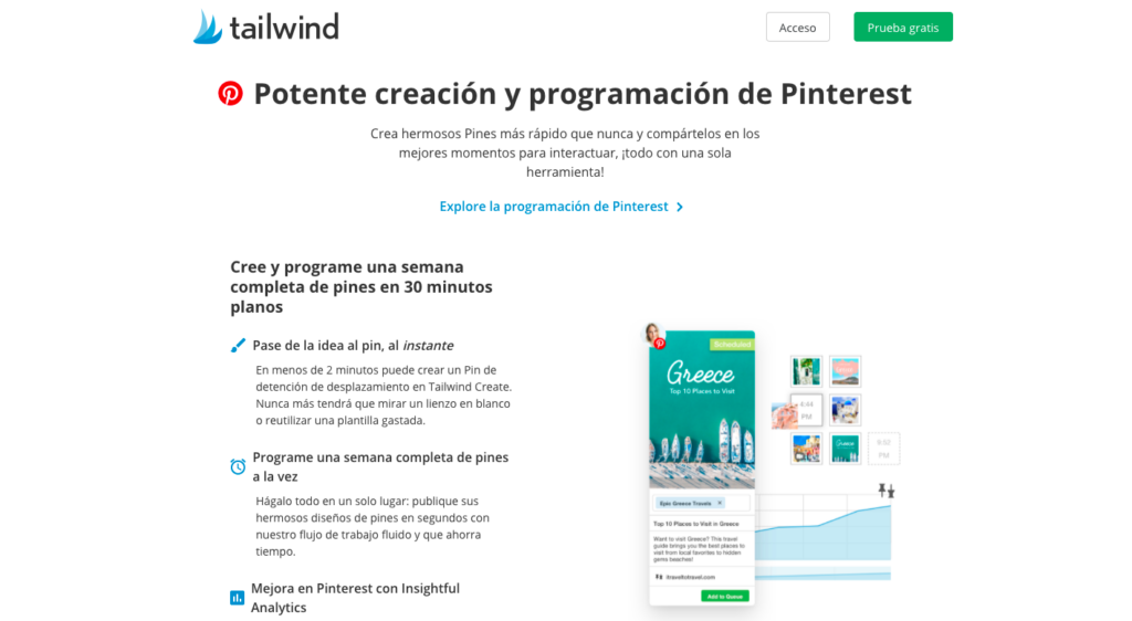 Tailwind para Pinterest e Instagram