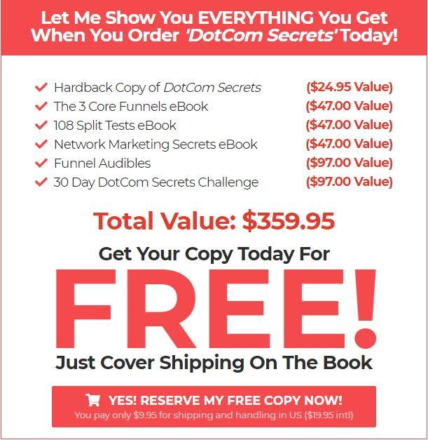 DotCom Secrets Bonus Libro