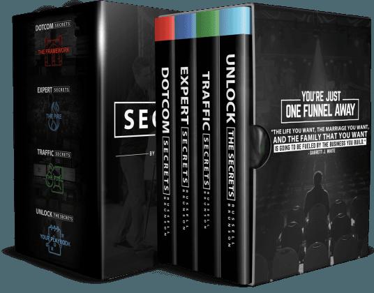 Caja de Trilogía de Secretos ClickFunnels
